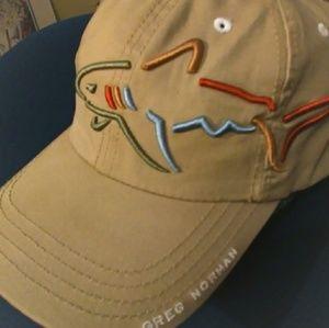 f9a47addc Vintage Greg Norman shark attack golf hat big logo